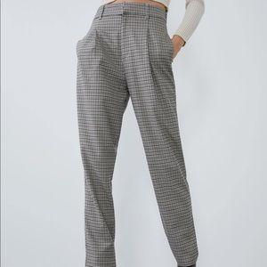 Zara High Waisted Menswear Pants